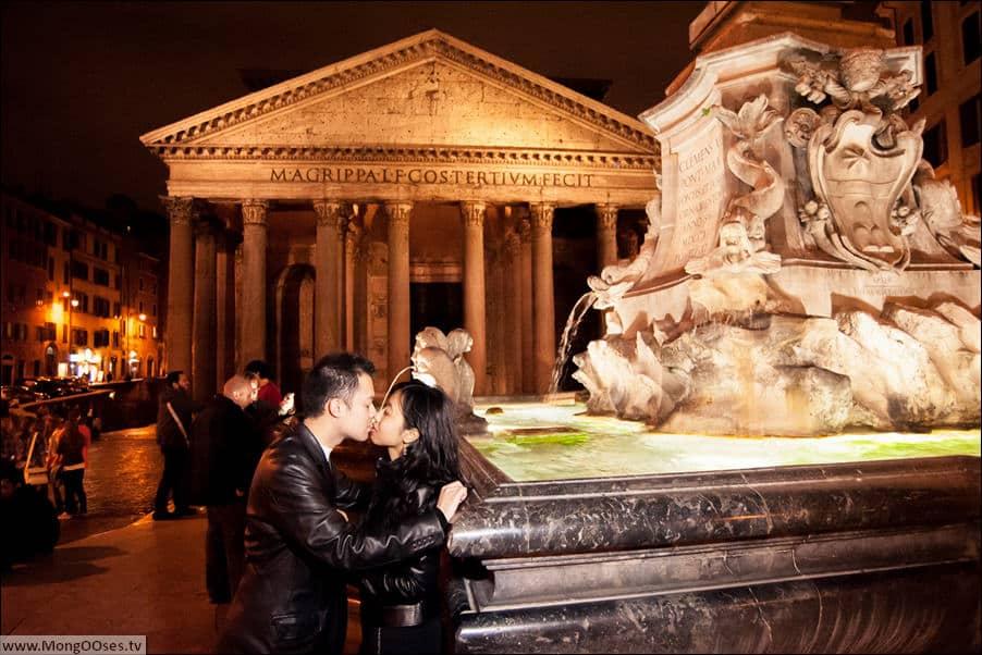 Пантеон - ночная фотосессия в Риме