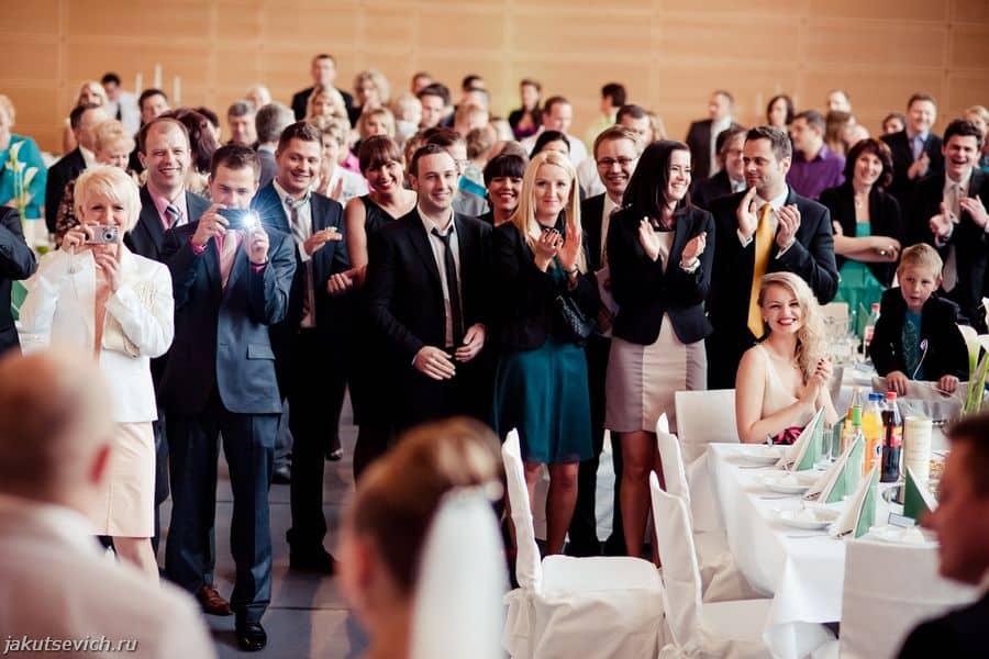 Свадьба в Германии - банкет и гости