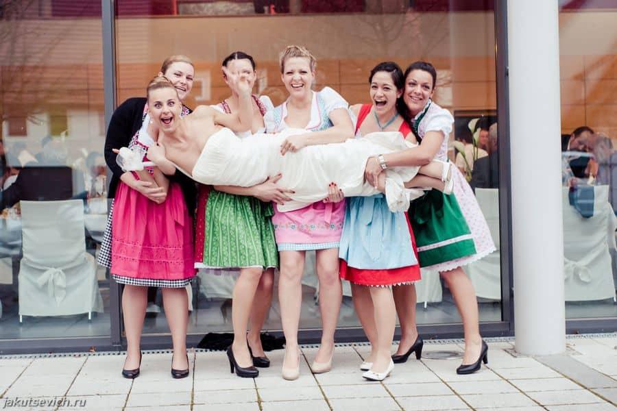 Свадьба в Германии - подружки невесты