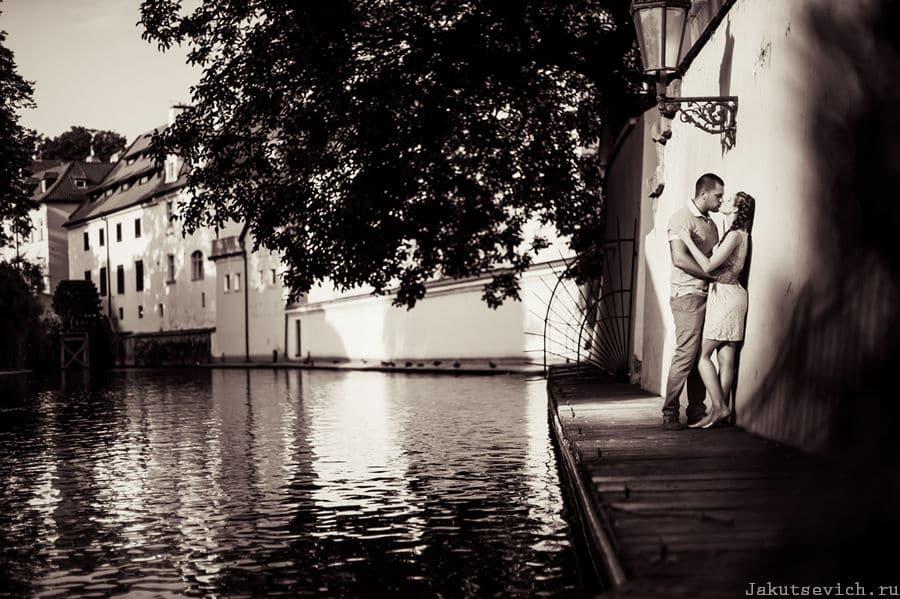 Влюбленные в Праге - фотограф в Чехии Артур Якуцевич