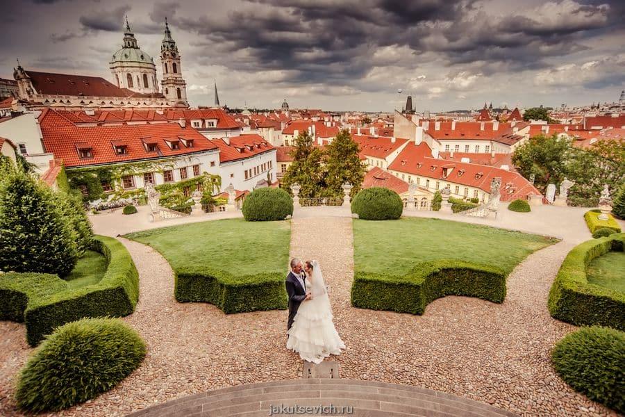 свадьба в Праге - Вртбовский сад