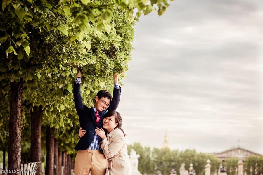 прогулка по Парижу - фотосессия до свадьбы