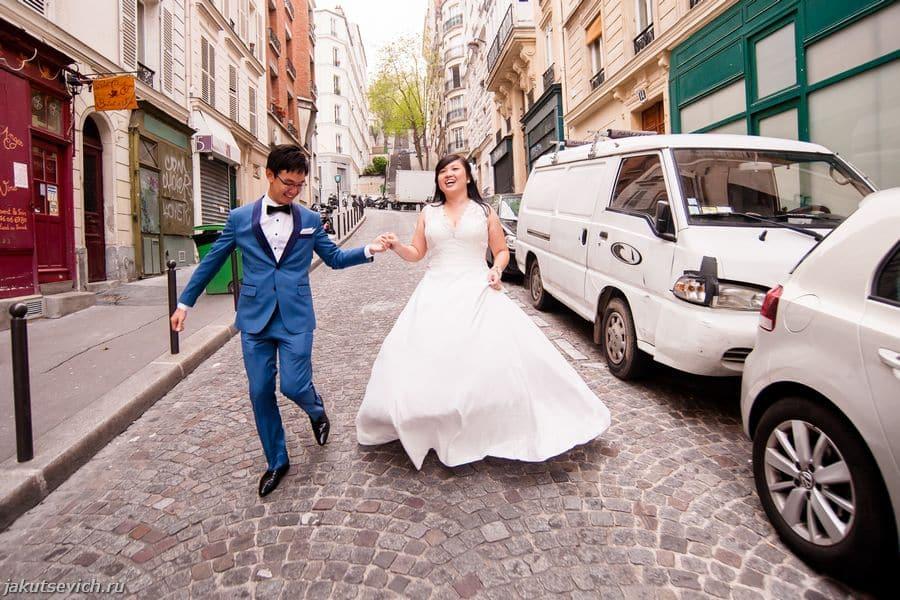 свадебная фотосессия в Париже - фотограф во Франции Артур Якуцевич