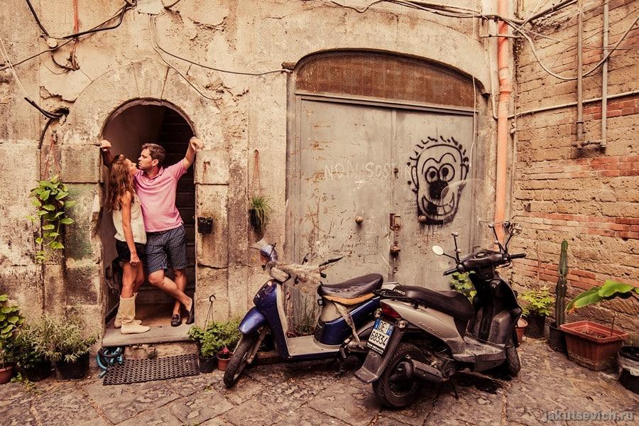 Свадебное путешествие в Италию - фотосессия в Неаполе