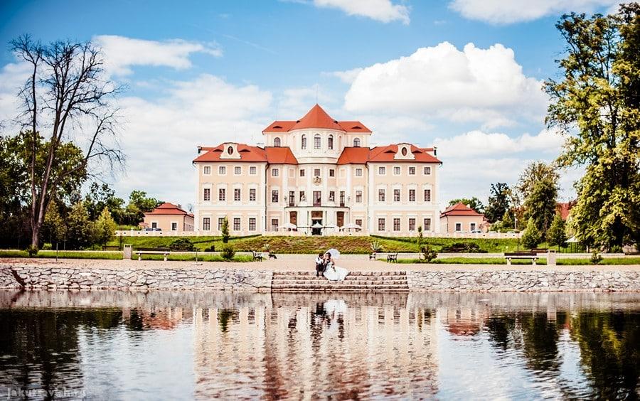 Свадьбе в замке Шато Барокко в Чехии