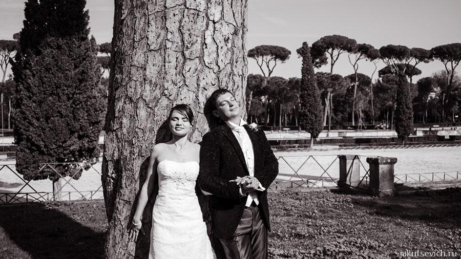 фотосессия в Риме на Вилла Боргезе