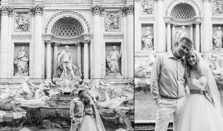 Фонтан де Треви - фотосессия в Риме