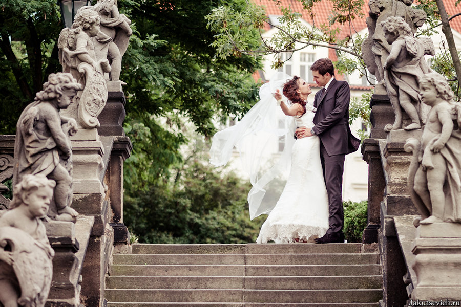 красивая свадьба в Праге