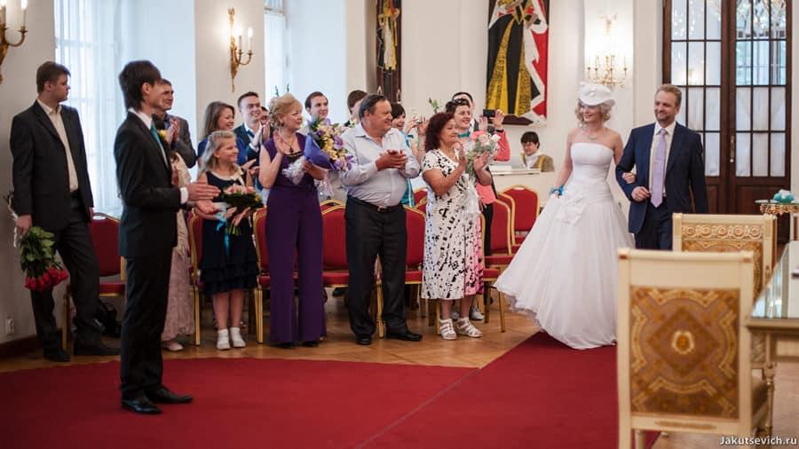 Церемония бракосочетания в Москве