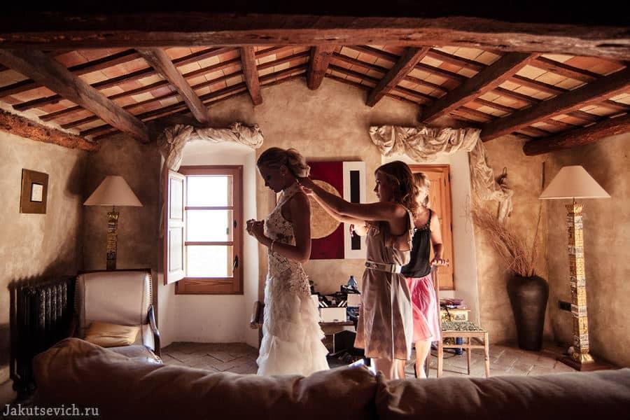 красивая свадьба за границей в Испании