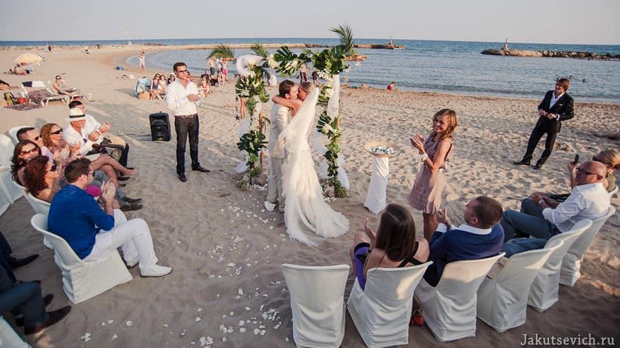 Свадьба на пляже в Испании