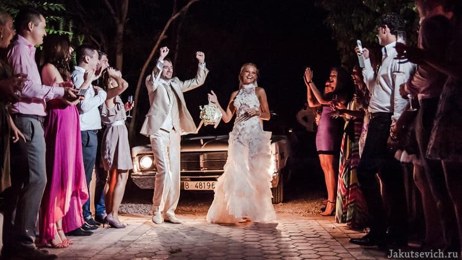 Необычная свадьба за границей в Испании