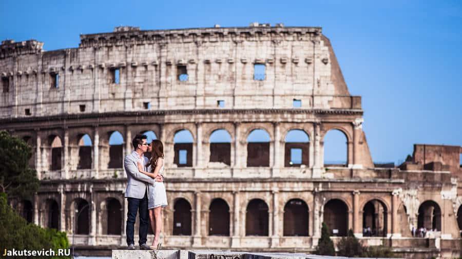 Колизей в Риме - свадебная фотосессия
