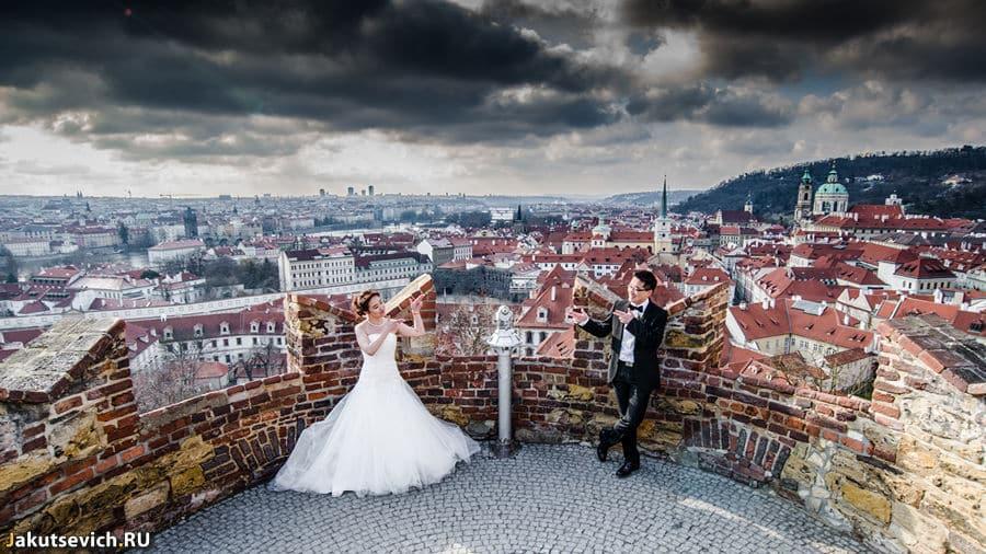 Панорама Праги, отличная погода