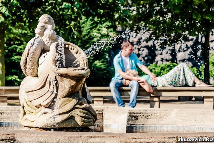 Красивые места в Праге - парк на станции метро Малостранска