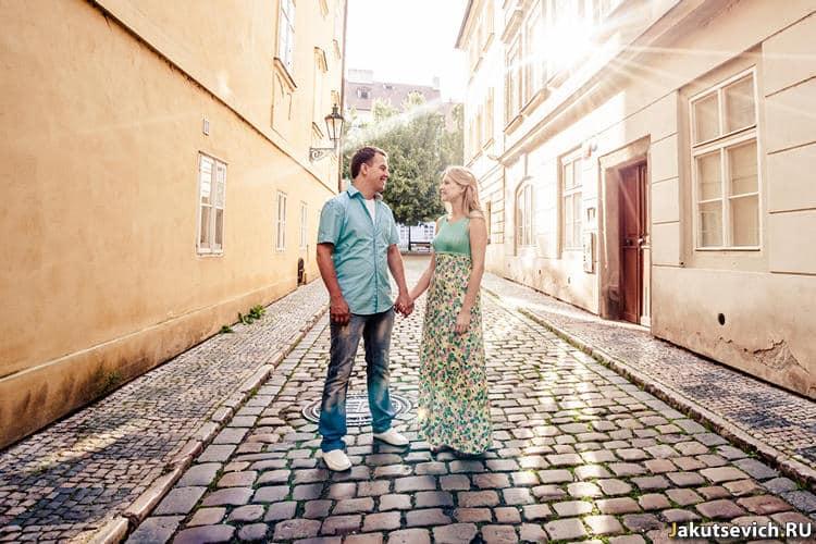 утро в Праге - фотосессия в Чехии летом