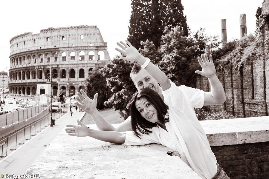 Прогулка по Риму - фотосессия перед свадьбой