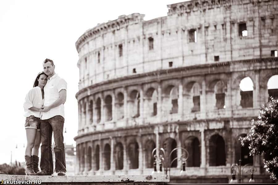Прогулка по Риму - фотосессия в Италии