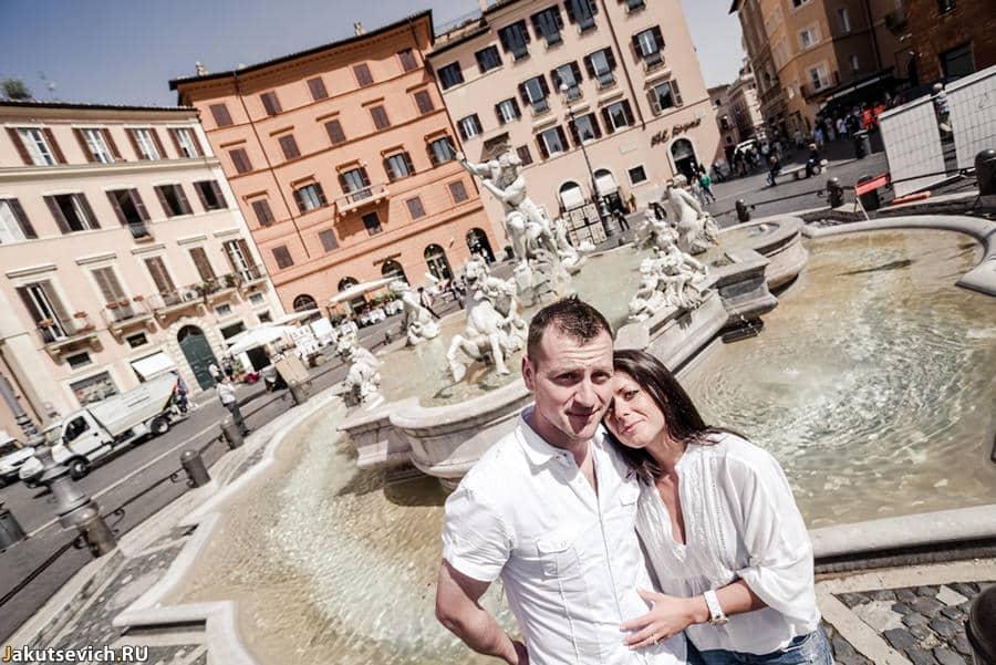 Площадь Навона - прогулка по Риму