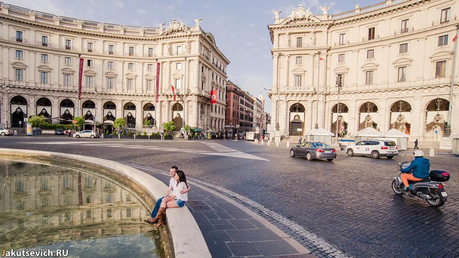Утро в Риме - фотосессия до свадьбы