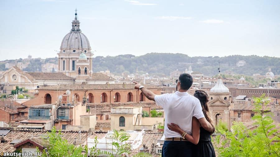 Фотосессия в Италии - помолвка в Риме
