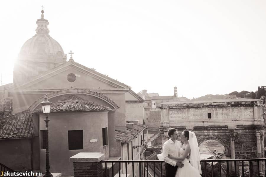 Начало дня в Риме Люды и Димы
