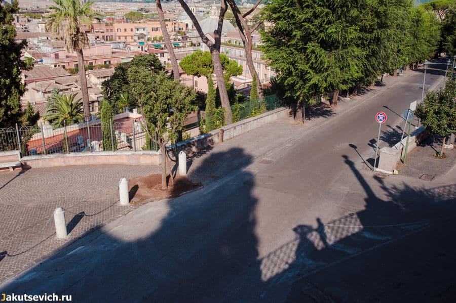 Смотровая площадка на Вилла Боргезе