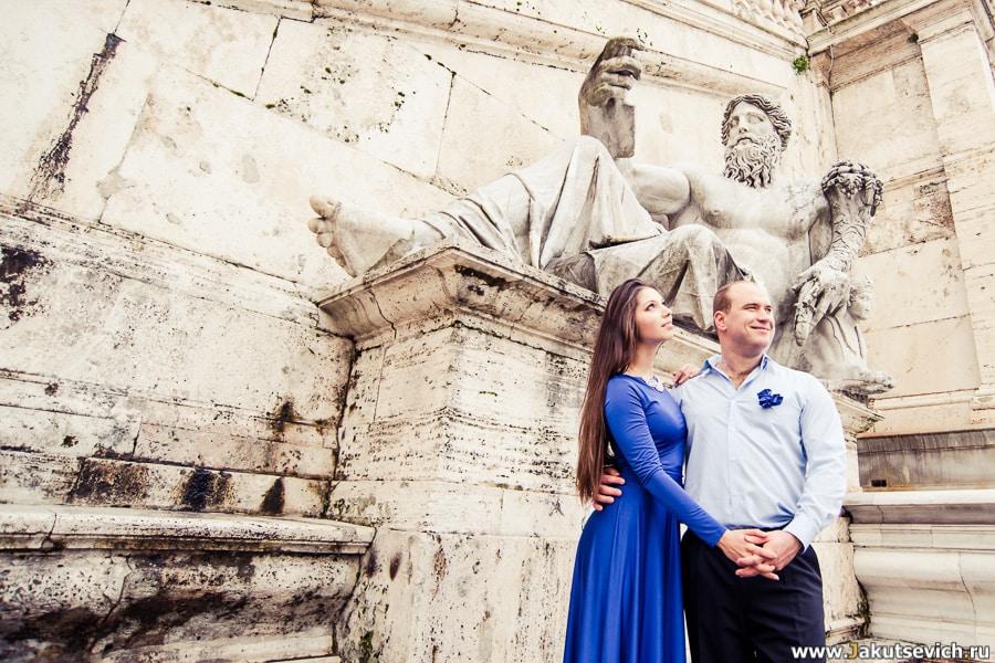 Фотосессия в Риме в январе