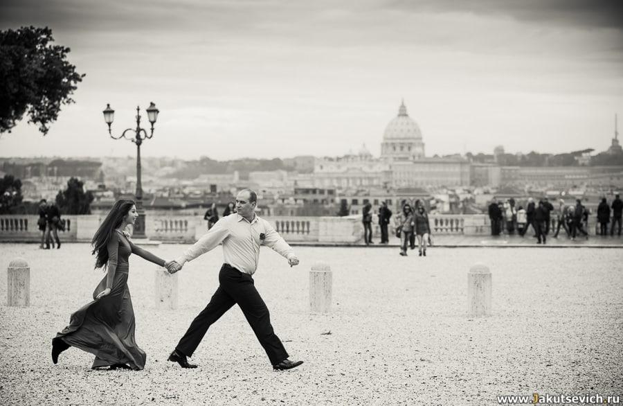 Рим в январе – фотосессия для влюбленных