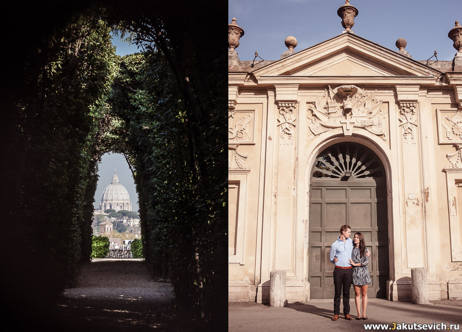 три государства в Риме: Мальта, Италия, Ватикан