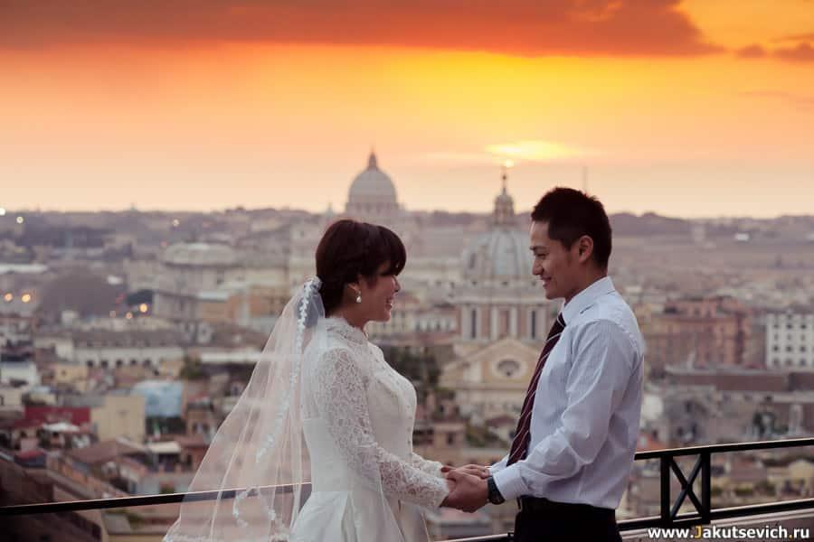 Фотосессия в Риме на закате