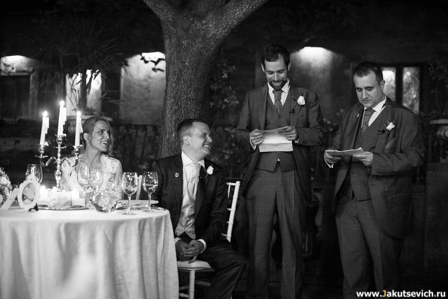 Свадебный ужин в Италии