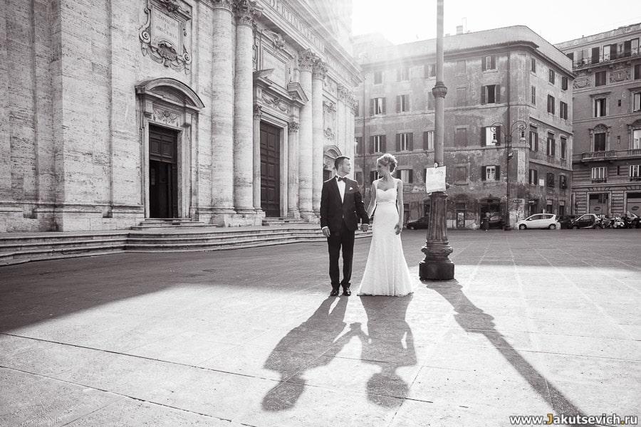 Фотосессия в Риме свадебное путешествие