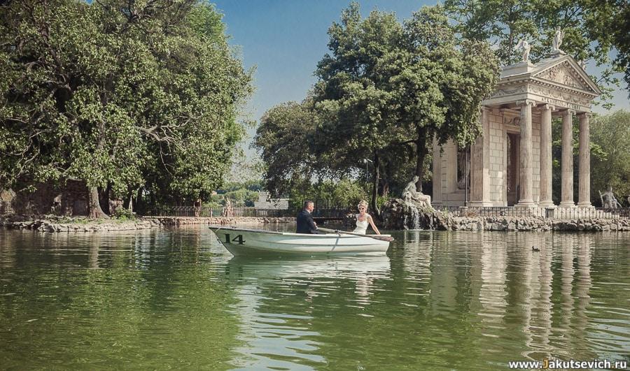 Озеро в Риме на вилла Боргезе