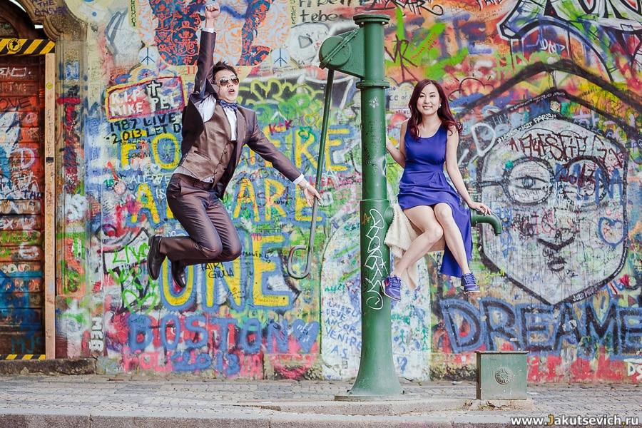 Свадебная фотосессия в Праге и love story