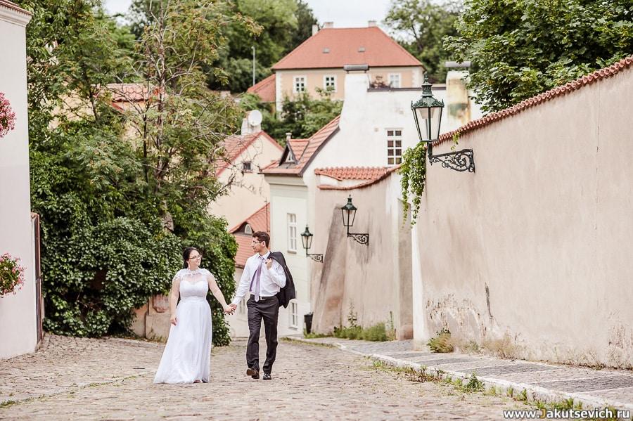 Прогулка на свадьбу в Праге