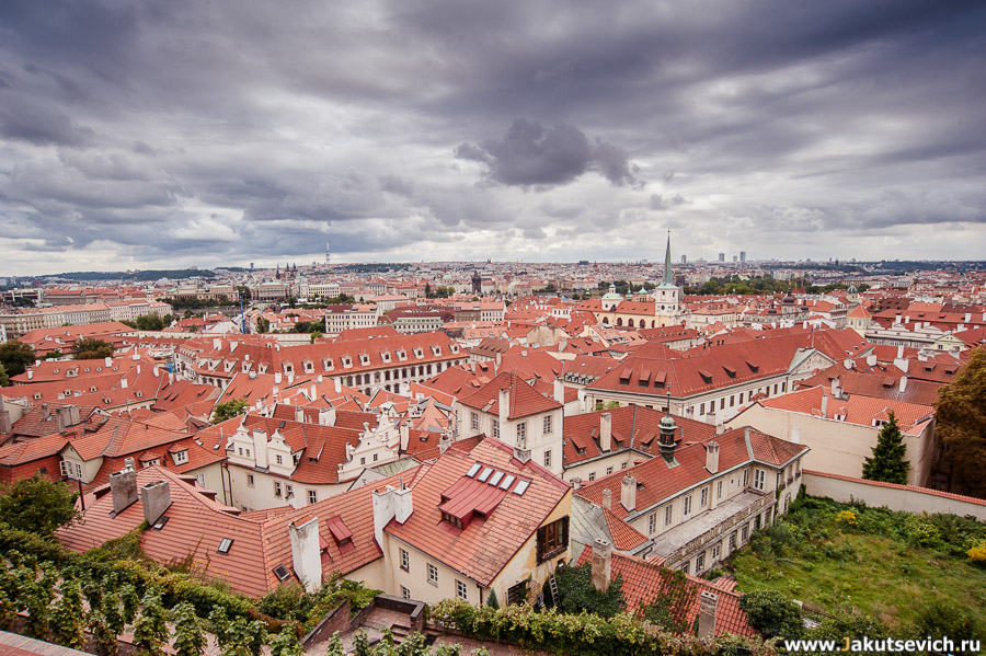 Прага Чехия фото крыши