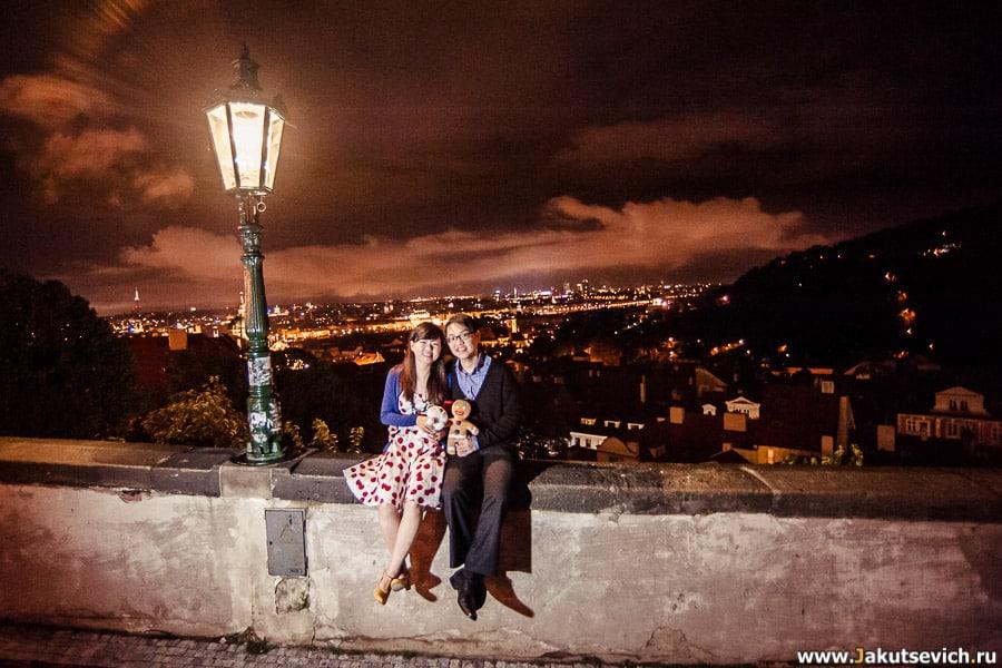Ночная фотосессия в Праге