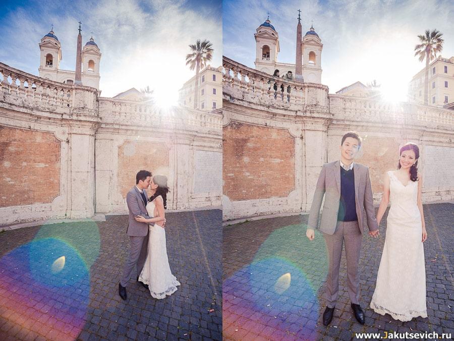 Фотографии у Испанской лестницы в Риме