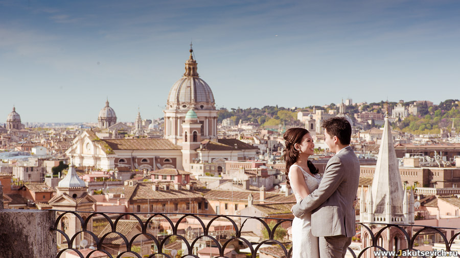 Холм Пинчо фото Рим в апреле