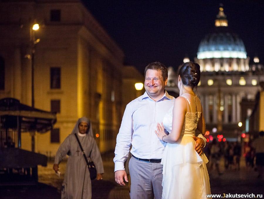 Фотосессия в Риме июнь лето свадебное путешствие