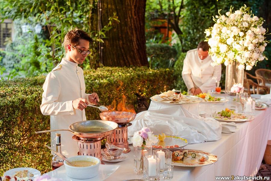 Заказать банкет на свадьбу в Италии