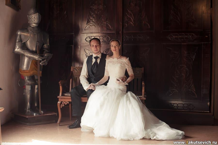 жених и невеста классический снимок