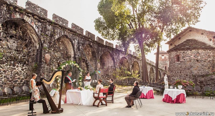 церемония регистрации брака в Италии