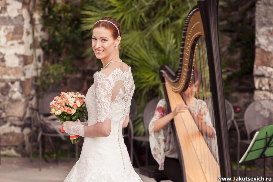 музыканты на свадьбе арфа