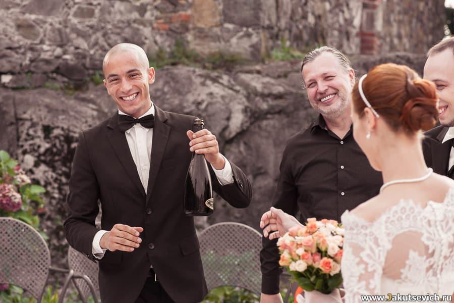 шампанское на свадьбе