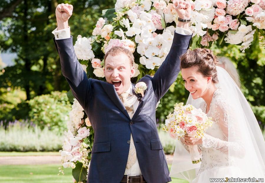 Свадьба в Чехии – счастливый жених и невеста