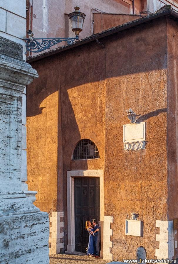 рассвет на Капитолийской площади в Риме