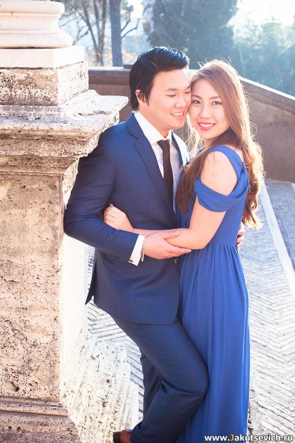 Свадебная фотосессия в Риме в январе