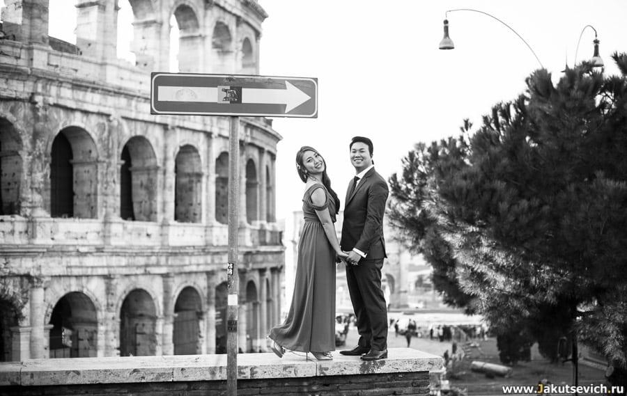 Фотосессия на фоне Колизея в Риме